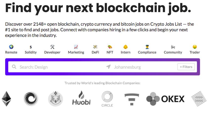 Source: Crypto Jobs List