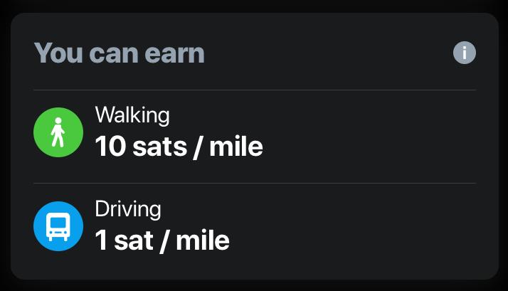 Daily earnings in sMiles
