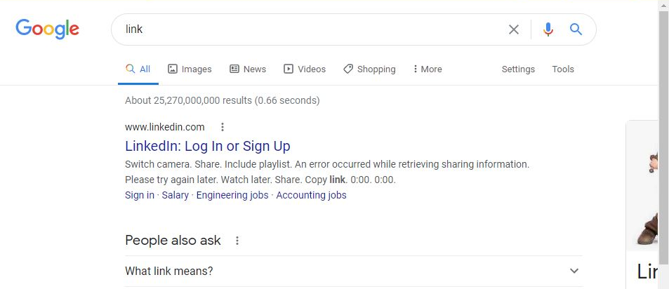 Link search Google