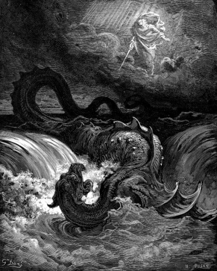 The Destruction of Leviathan by Gustave Doré (1865) Courtesy of Wikipedia