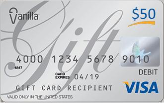 Buy Vanilla VISA Gift Card with Bitcoin