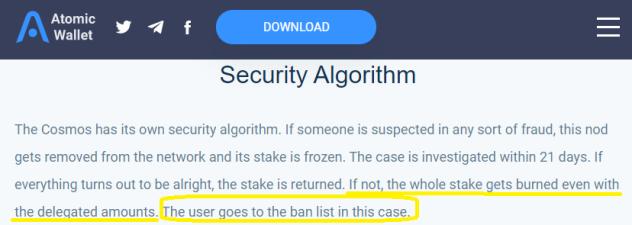 user ban