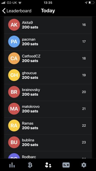 200 sats per day