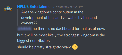 image of NPLUS Entertainment clarify strongest kingdoms are the biggest contributor