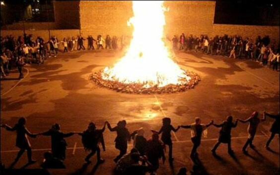 Jumping Over Fire | Persian Ceremony | On the Last Wednesday of The Year