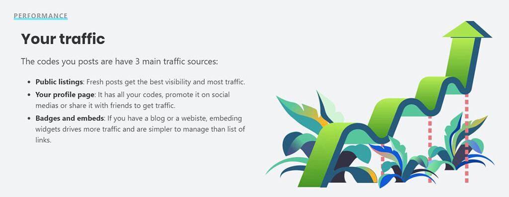 How invitation.codes will increase traffic to your referral links.