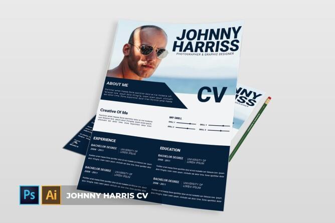 Johnnu Harriss | CV & Resume by Vunira