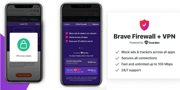 Brave VPN and Firewall iOS