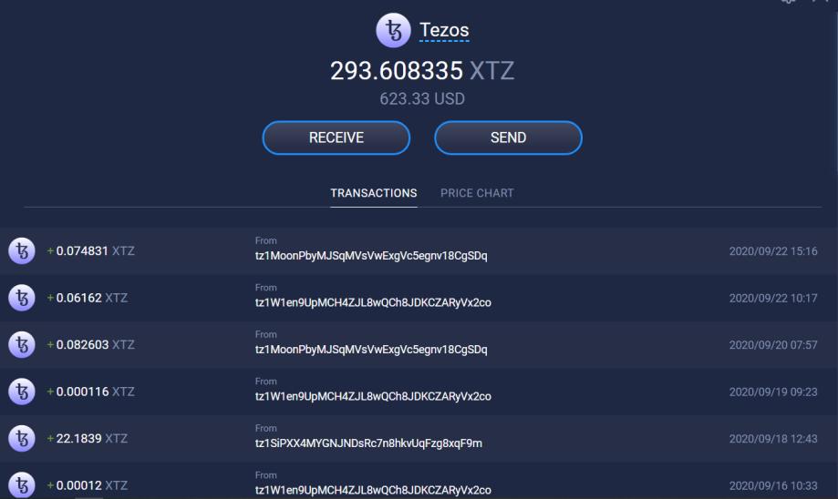 Tezos Staking Rewards - 10.04.20