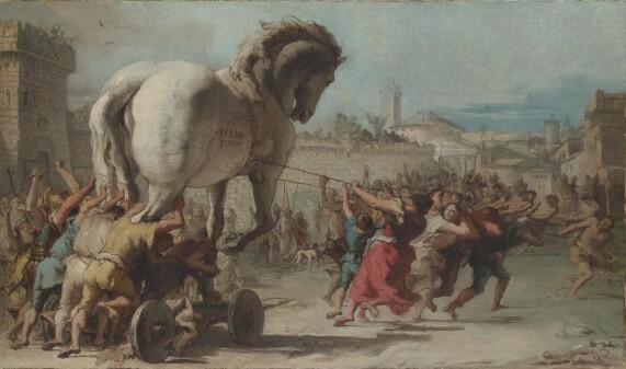 London Museum : PGiovanni Procession of the Trojan Horse