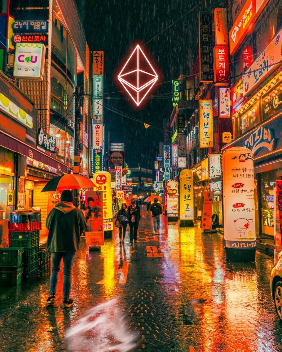 Neo Neon Ethereum Street