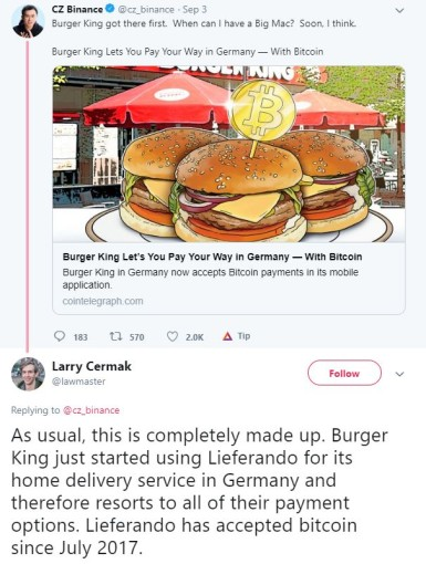 Burger King is accepting bitcoin (and it is not a fake news)