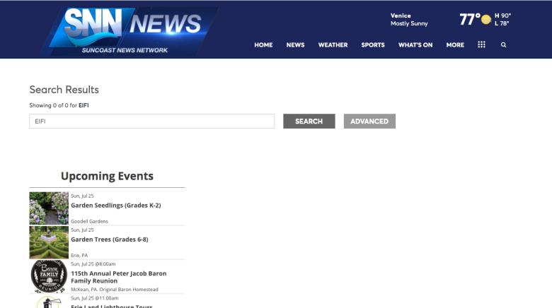 SNN news search results