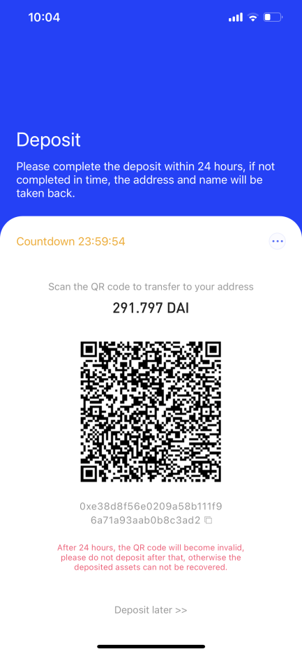 QR Code for Payment