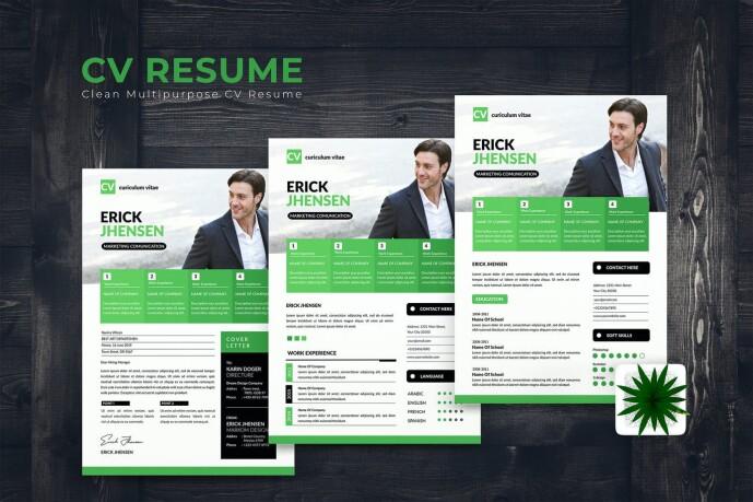 Jhensen CV Resume by karkunstudio on Envato Elements