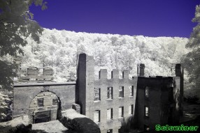 Ultraviolet and Infrared Photography - Walking down to the New Manchester Mill Ruins