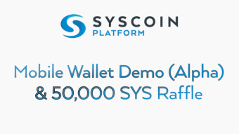 UPDATE on the Just Released Syscoin Spark Mobile Wallet