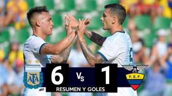 Argentina defeated Ecuador 6-1.