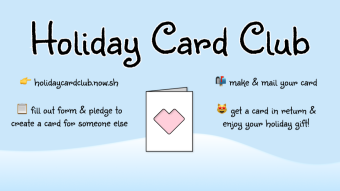 Holiday Card Club 💌 - send & receive actual holiday cards with a buddy