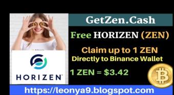 Free Horizen (ZEN) faucet | Claim upto 1 ZEN directly to binance wallet | GetZen.cash