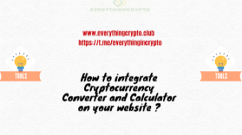 How to integrate Cryptocurrency Converter and Calculator on your website ?