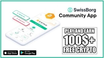 Earn Free Crypto With Swissborg Community App