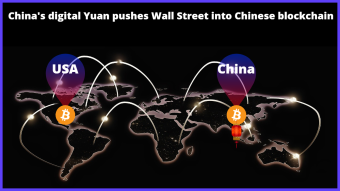 China's Bitcoin-backed digital Yuan, pushes Wall Street into cryptocurrency sector.