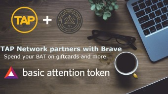 Brave partners with the TAP Network! Spend your BAT on real world items