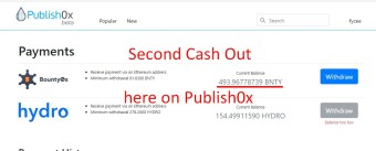 Bounty0x Token Cash-Out Here In Publish0x