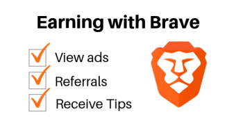My personal experience with the Brave Browser Rewards BAT tips & referrals