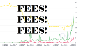 ETH Transaction Fees now account for 30% of miner rewards. This is potentially VERY BAD.
