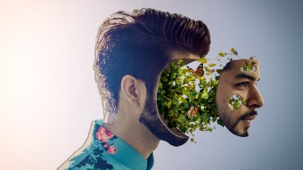 Plant Face Portrait Photo-Manipulation With Quick Making GIF And Creation Process