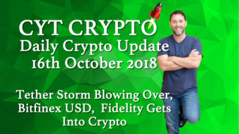Tether Storm Blowing Over. Fidelity Gets Into Crypto .  Bitfinex Improves Fiat Processing System.