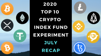 EXPERIMENT - Tracking Top 10 Cryptos of 2020 - Month Seven - UP +71%