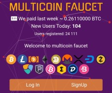 Mintcoin multicoin faucet with 15 coins