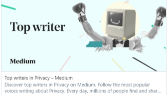 Top Writers in Privacy on Medium