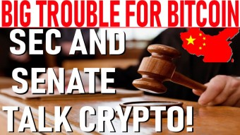 BIG TROUBLE FOR BITCOIN! - SEC & SENATE TALK CRYPTO! - RIPPLE MENTIONED BY GOV'T! - XTZ PUMP: TOP 10