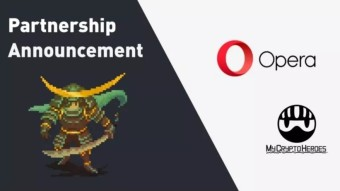 MyCryptoHeroes Partner With Opera Browser