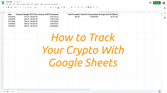 How to Track Your Crypto With Google Sheets