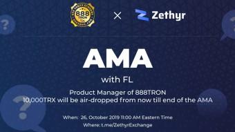 Zethyr Exchange AMA with Ruslan, CEO of 888TRON