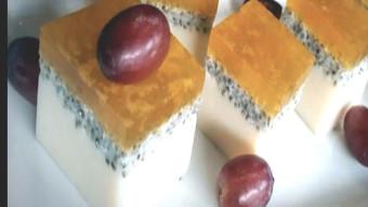 Three Layered Chia And Milk Made Pudding Recipe. So Delicoius.