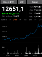 bitcoin His price rose to 12500 dollars