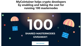 MyCointainer helps crypto developers by enabling and taking the cost for running 100 masternodes