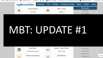 Crypto: My Bitcoin Tube - Platform Update #1