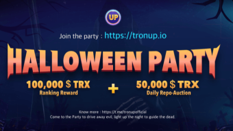 TronUp Halloween party 150 000 TRX