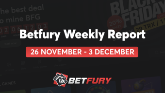 Weekly report BetFury 26.11–03.12