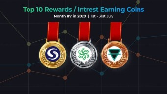Top 10 Best Performing Rewards Earning Crypto Assets - July 2020 Summary