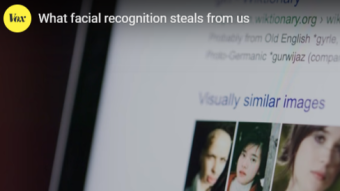 Video explaining how facial recognition is used to identify and track people