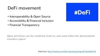 DeFi: decentralized insurance platforms