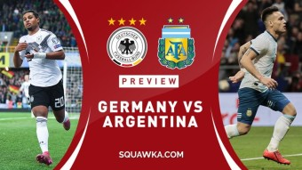 Argentina 2-2 Germany draw in international friendly match.